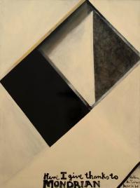 <em>Here I give thanks to Mondrian</em>, 1961