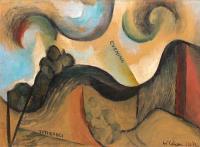 <em>Titirangi landscape</em>, 1954