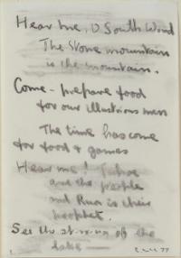 <em>Hear me O south wind no. 1</em>, 1977