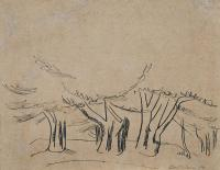 <em>Macrocarpa Trees, Ross Creek Reservoir, Dunedin</em>, 1937