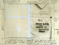 <em>[Cover design for The Holy Life and Death of Concrete Grady, by James K. Baxter]</em>, 1974