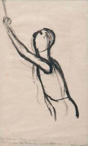 <em>Drawing for Kennedy Crucifixion</em>, 1946