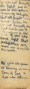 <em>He was not himself the light</em>, 1969