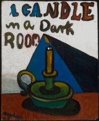 <em>A candle in a dark room</em>, 1947