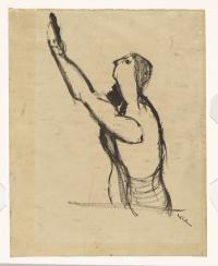 <em>Untitled (Drawing for Kennedy Crucifixion)&nbsp;</em>, 1946