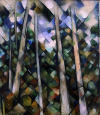 <em>Kauri trees, Titirangi</em>, 1955