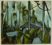 <em>House in trees, Titirangi</em>, 1953