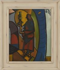 <em>Woman with lamp</em>, 1947