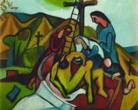 <em>Entombment (after Titian)</em>, 1947