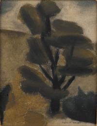 <em>[Dark trees, Dunedin]</em>, 1942