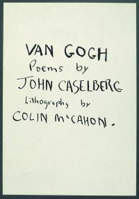 <em>Van Gogh - poems by John Caselberg </em>, 1957