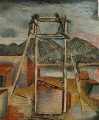 <em>[Sheds and scaffolding, Mapua]</em>, 1941