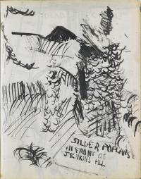 <em>[Silver poplars in front of Jenkins Hill]</em>, 1946