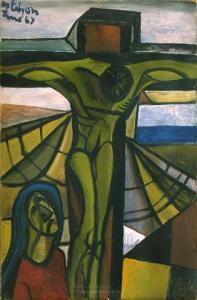 <em>Crucifixion with Virgin</em>, 1947