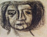 <em>Girl's head </em>, 1953