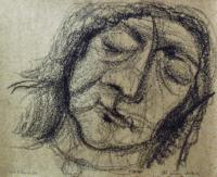 <em>Old person sleeping</em>, 1954