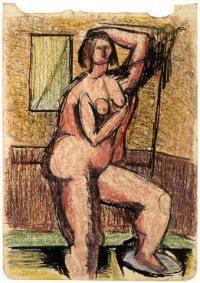 <em>[Bather, interior]</em>, 1941