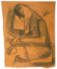 <em>Seated figure</em>, 1942