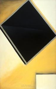 <em>Black diamond, white square </em>, 1961