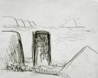 <em>Muriwai drawing</em>, 1974