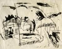 <em>[Sketch of Ruby Bay house]</em>, 1944