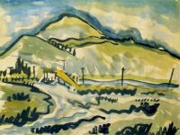 <em>Saddle Hill [from Taieri Mouth]</em>, 1937