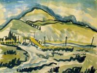 <em>Saddle Hill [from Taieri Mouth]</em>, 1937
