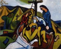 <em>Entombment (after Titian)</em>, 1947