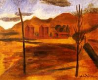 <em>Nelson landscape, tobacco kilns</em>, 1939