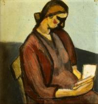<em>Anne reading</em>, 1945