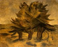 <em>Landscape, with three trees</em>, 1940