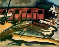 <em>[Boat Sheds, Otago Harbour]</em>, 1936