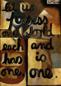 <em>Let us possess one world</em>, 1955