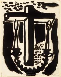 <em>[Cover design for James K. Baxter Festival programme]</em>, 1973