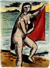 <em>[Bather with red towel]</em>, 1941