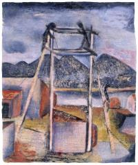 <em>[Sheds and scaffolding, Mapua]</em>, 1941