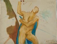 <em>[Unfinished study of male nude]</em>, 1946