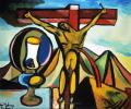 Crucifixion with lamp